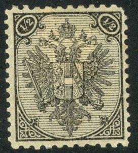 BOSNIA AND HERZEGOVINA 1894 1/2k Black Arms P.10 1/2 Sc 1a,SG104c MH