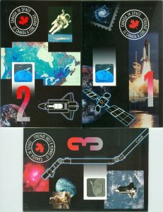 CANADA  3 ASTRONAUTS HOLOGRAMS...ONE SIGNED