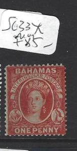 BAHAMAS  (PP1710B)  QV   1D   SG 33X   MOG