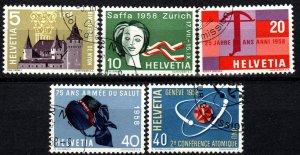 Switzerland #365-9  F-VF Used   CV $2.70  (X1287)