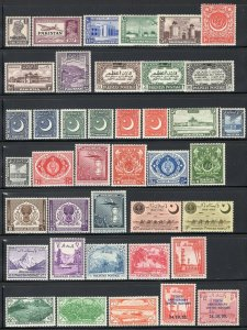 Pakistan & Bahawalpur 1947-55 Mint Selection 66 Stamps Many Better