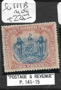 NORTH BORNEO (P0405B) 24C ARMS LION SG 111B  MOG