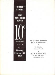 United States 1847 10c Blacks - Imperforate, HR Harmer 1281