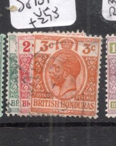 British Honduras SG 101-3 VFU (12djd)