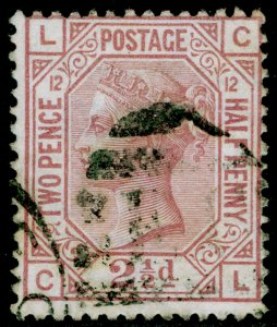 SG141, 2½d rosy mauve plate 12, FINE USED. Cat £85. CL