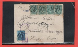 1907 Edward cover to Hungary REGISTERED, 1 stamp missing Canada