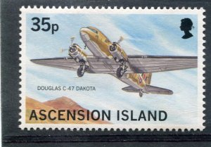 Ascension Island MILITARY AIRCRAFT THE DOUGLAS 1 value Perforated Mint (NH)