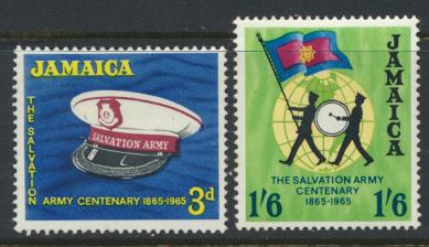 Jamaica SG 242-3 Mint Hinged   SC# 242-3 Salvation Army see details