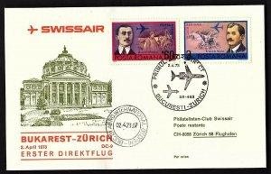 FFC ROMANIA, SWISSAIR: BUKAREST TO ZURICH (KB1931)