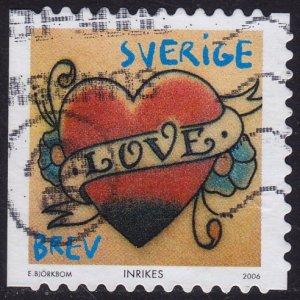 Sweden - 2006 - Scott #2526a - used - Heart Tattoo