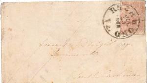 Confederate States 10c Jefferson 1862 Richmond, Va. to Summerville, S.C.  Sta...
