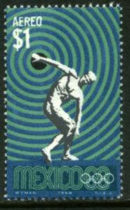 MEXICO C341, $1Peso 1968 Olympics, Mexico City. MINT, NH. VF.