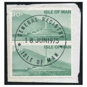 Isle of Man 10p Pair QEII Pictorial Revenue CDS On Piece