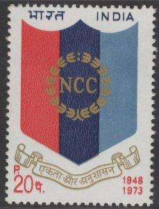INDIA SG705 1973 NATIONAL CADET CORPS MNH