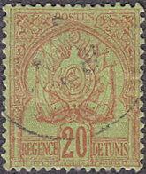 Tunisia # 17 used ~ 20¢ Coat of Arms
