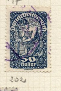 Austria 1919 Early Issue Fine Used 50h. NW-120080