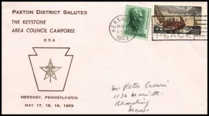 US Paxton District Salutes Keystone Area Camporee Boy Scouts 1963 Cover