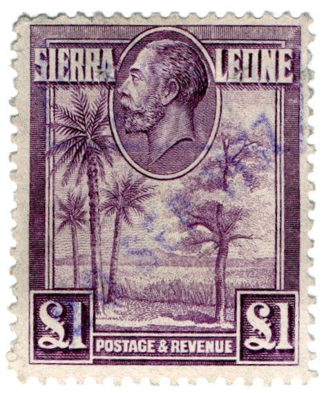 (I.B) Sierra Leone Revenue : Duty Stamp £1
