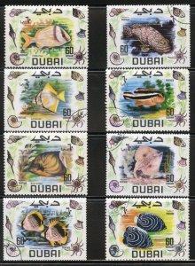 Dubai Scott 101-107 - UVFNHOG (CTO) - Complete Fish Set - SCV $2.80