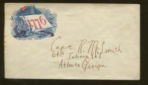 1860's United States Patriotic Civil War Era Postal Cover