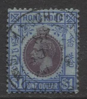 Hong Kong - Scott 143 - KGV- Definitive-1921- FU- Single $1.00 Stamp