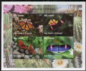 St Thomas & Prince Islands 2005 Butterflies perf shee...