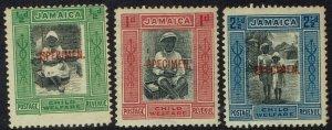 JAMAICA 1923 CHILD WELFARE SPECIMEN SET