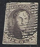 Belgium #3 Used Single Stamp Imperf. cv $100