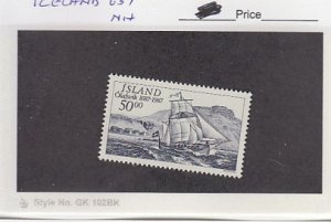 J25779  jlstamps 1987 iceland set of 1 mnh #637 ship checked f/condition