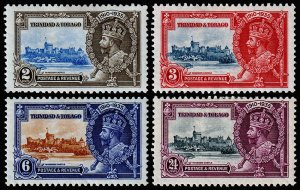 Trinidad & Tobago Scott 43-46 (1935) Mint H VF Complete Set, CV $14.05 M