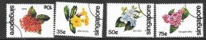 SINGAPORE SG392/5 1980 FLOWERS FINE USED