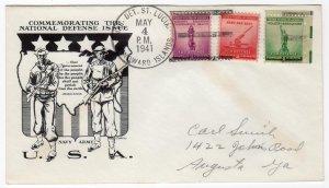Defense Issues on Patriotic from Marine Det. Saint Lucia Windward Islands 1941