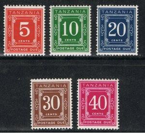 TANZANIA 1967 - 73 POSTAGE DUE