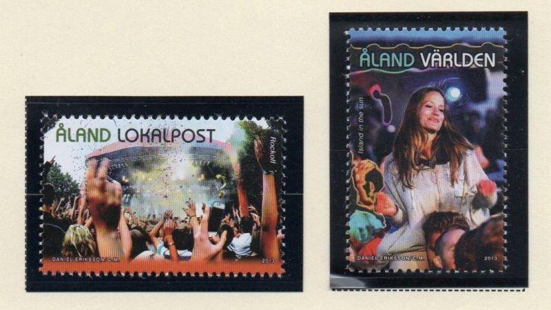 Aland Finland Sc 345-46 2013 Music Festivals stamp set mint NH