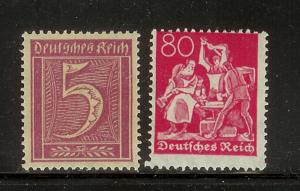 Germany 137, 145 MNH Numerals, Iron Worker (B)