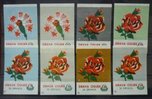 Match Box Labels! flora flower flowers nature osijek croatia yugoslavia GJ38