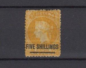 St Helena QV 1864 5/- On 6d SG20 MH JK6277