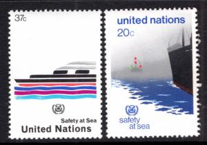 UN New York 394-395 MNH VF