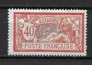 France Offices in Egypt - Alexandria 26 40c single MH