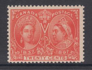 Canada Sc 59 MLH. 1897 20c vermilion Victoria Jubilee F-VF