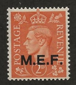 GREAT BRITAIN - MIDDLE EAST FORCES SC# 11  FVF/MOG 1943