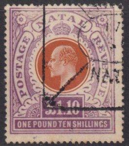 Natal 1904-1908 SC 109 Used Revenue Cancel