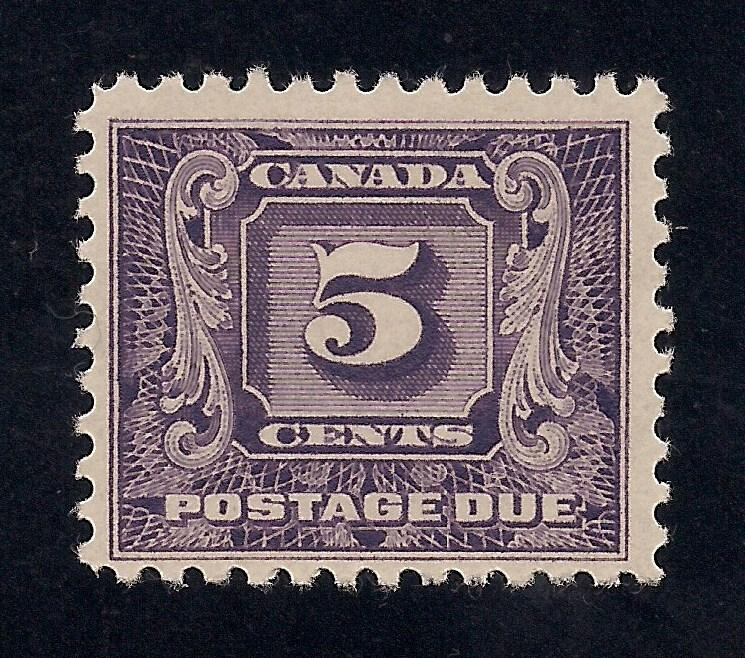 Canada #J9 Dark Violet - Unused - O.G.