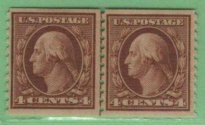 $US Sc#457 M/H/F-VF, joint line pair disturbed OG, genuine, Cv. $160