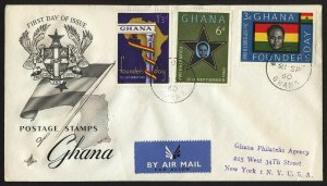 wc051 Ghana Founder's Day 1960 FDC first day cover