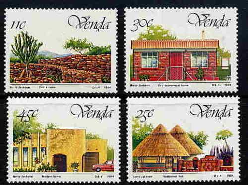 SOUTH AFRICA Venda 1984 Independence House Places Stamps MNH SG 99-102