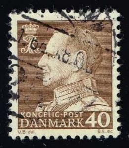 Denmark #417 King Frederik IX (non-fluor); used (0.50)