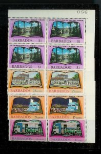 BARBADOS Sc#376-379 Complete Mint Never Hinged BLOCK Set