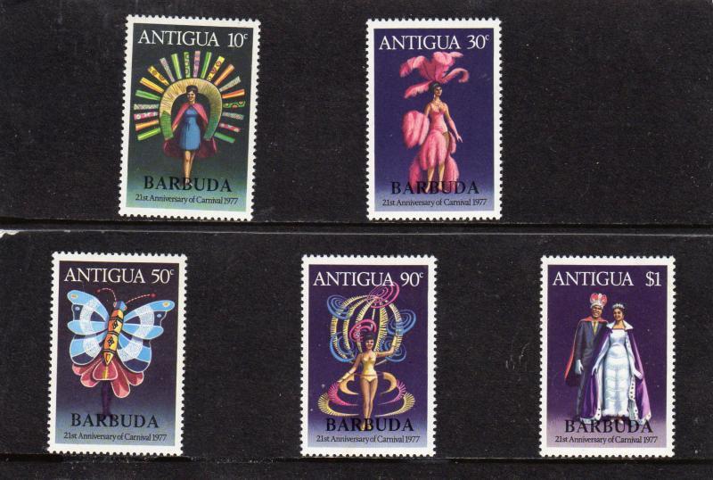 Antigua MNH 472-6 21st Anniversary Summer Carnival 1977