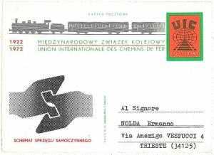 TRAINS: POSTAL STATIONERY - POLAND 1972